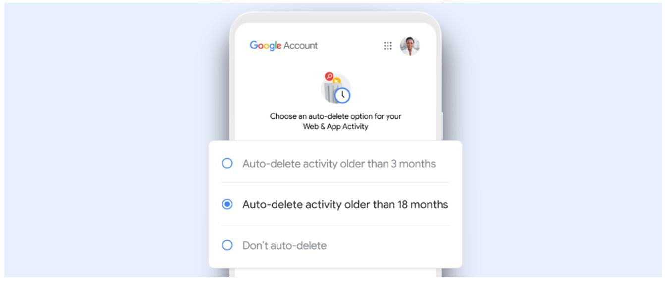 google privacy auto-delete activity