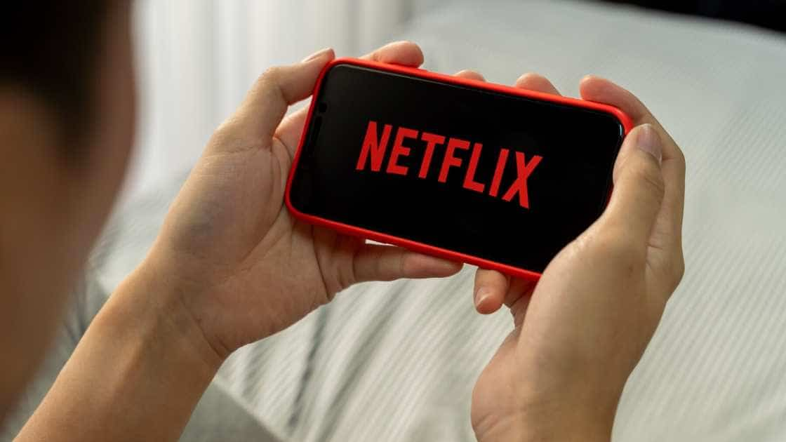watching Netflix on a phone