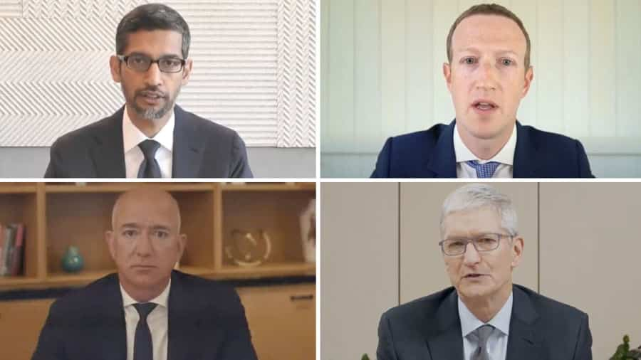 The CEOs of Amazon, Facebook, and Apple answered tough questions about their competitive practices in a Congress hearing Wednesday.